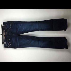 Rock Revival Dark Blue Embellished Low Rise Jeans
